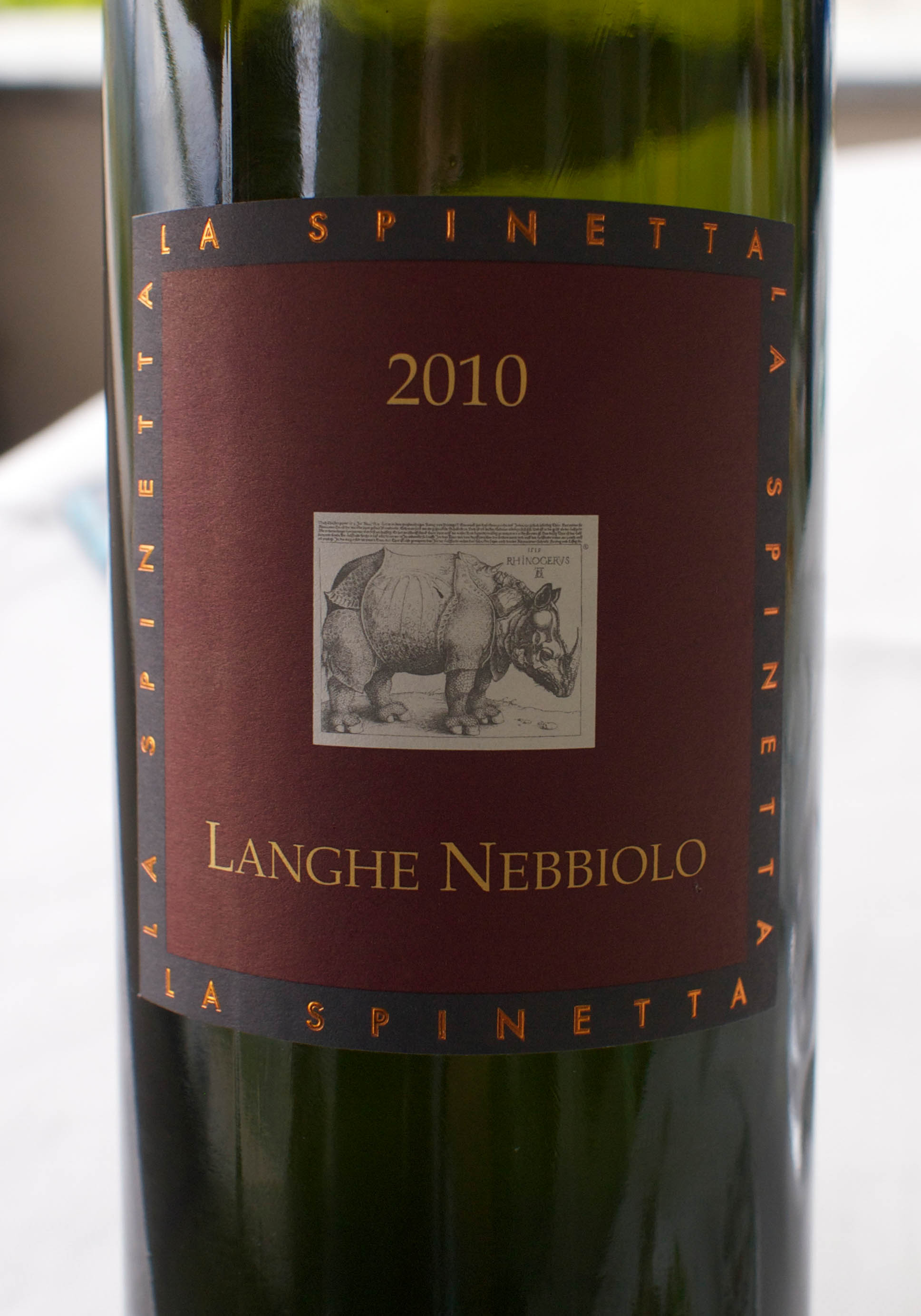 La Spinetta Langhe Nebbiolo (perhaps the best wine we shared in Piedmont