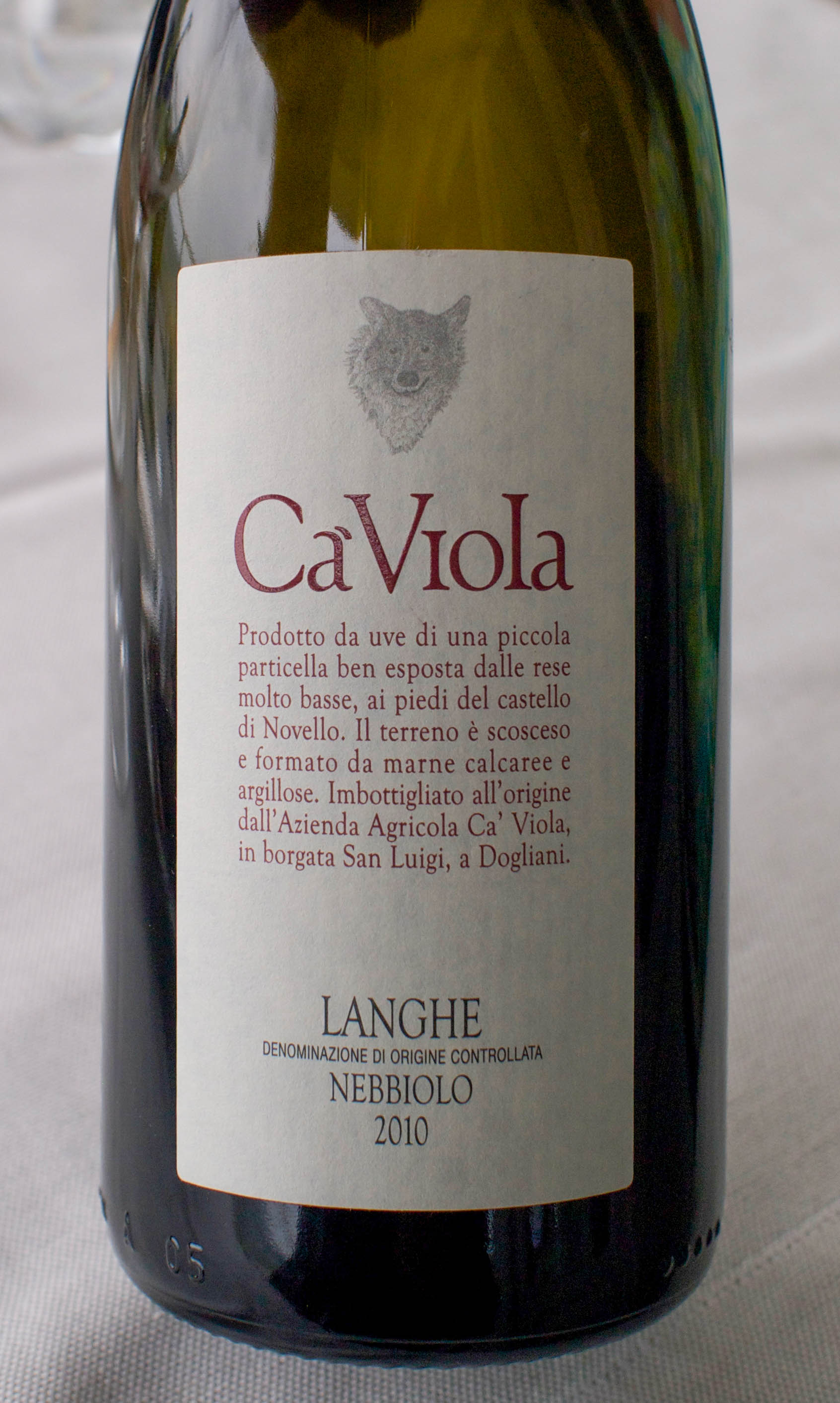Cà Viola Langhe Nebbiolo (a delicious replacement for the La Spinetta)