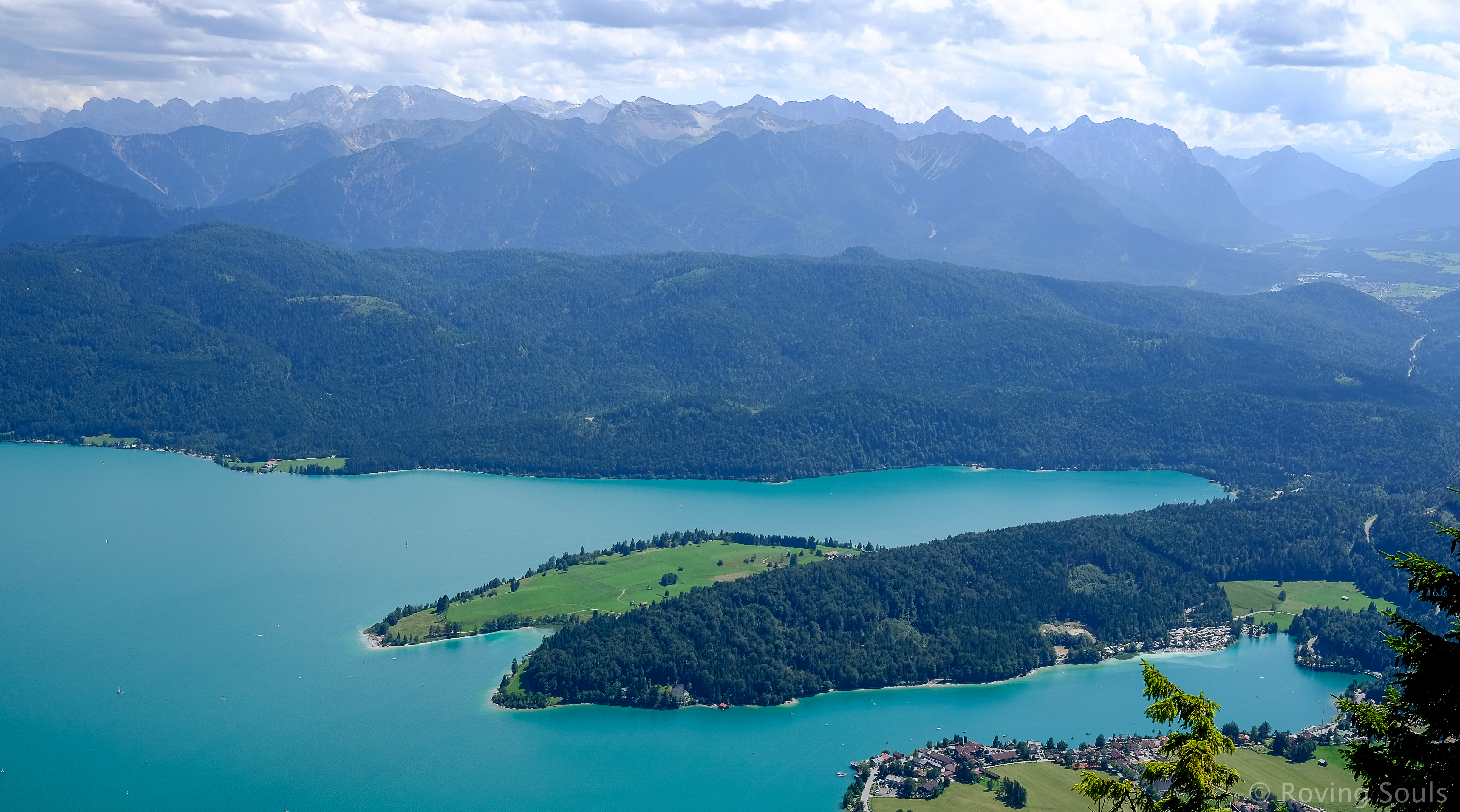 The Walchensee Bavarian Alps, Germany August 2016